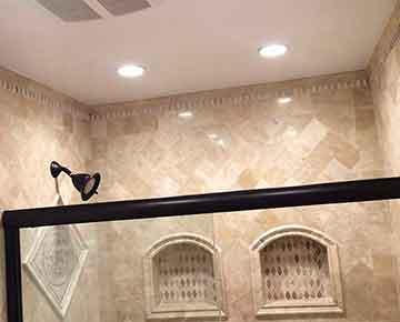 Shower remodeling.