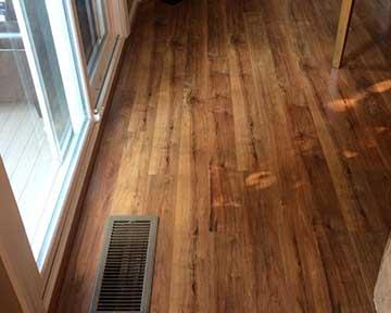 Wood Floor Installation In Kitchen