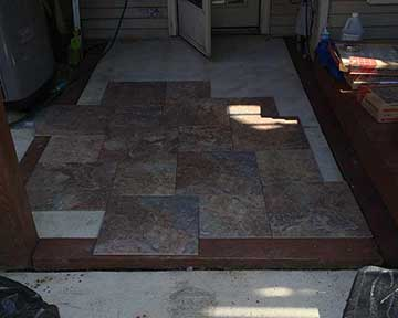 Installation of stone pavers