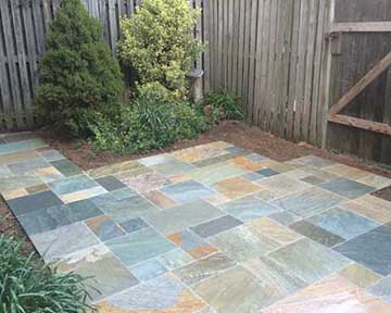 Patio Installation with Pavers