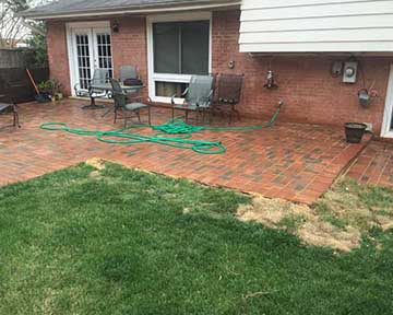 paver patio finishes
