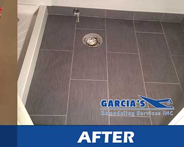 before and after of bathroom tile installation