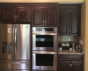 Traditional dark brown kitchen